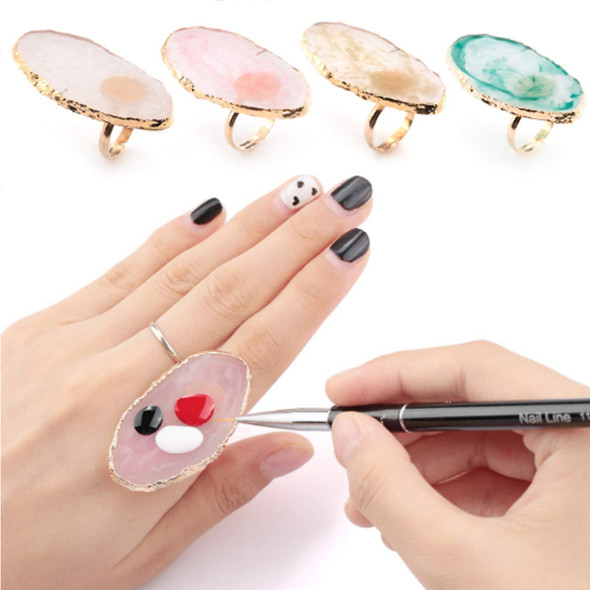 FINGER RING Mixing Palette Marble