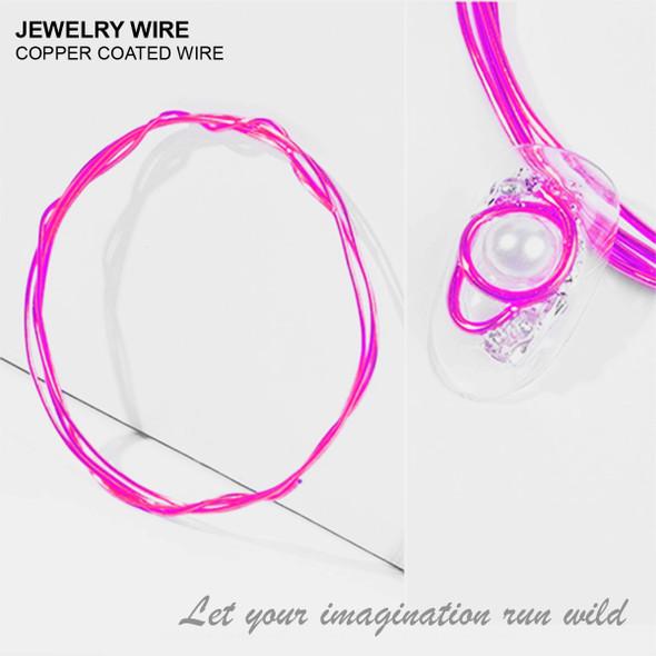 "JEWELRY WIRE Light Pink 0.02"" Diameter x 40"" Length"