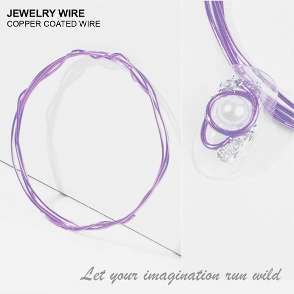 "JEWELRY ALUMINUM WIRE Lavender 0.02"" Diameter x 40"" Length"