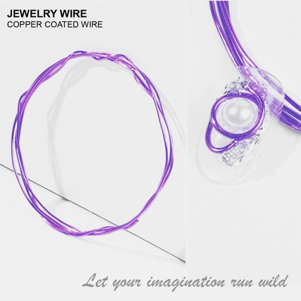 "JEWELRY ALUMINUM WIRE Dark Purple 0.02"" Diameter x 40"" Length"