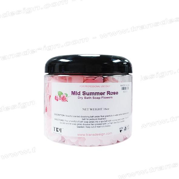 TDI SPA Dry Bath Soap Flowers Mid Summer Rose 16oz.