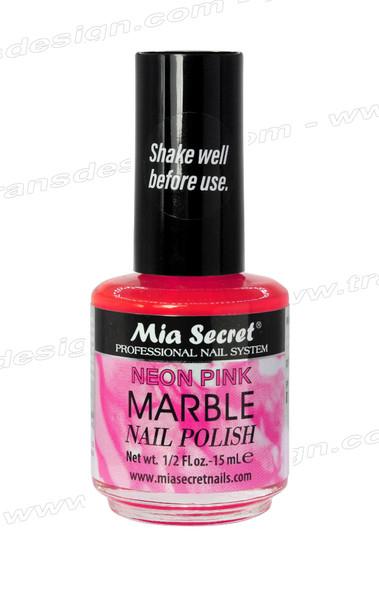 MIA SECRET Neon Pink Marble Nail Polish 0.5oz