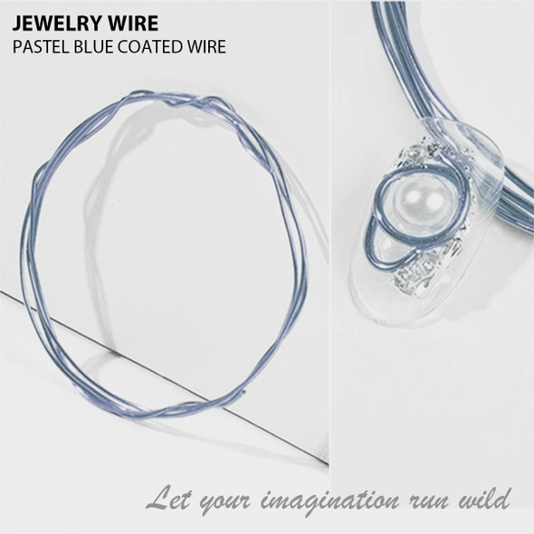 "JEWELRY WIRE Pastel Blue 0.02"" Diameter x 40"" Length"