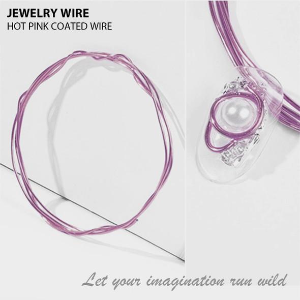 "JEWELRY WIRE Hot Pink 0.02"" Diameter x 40"" Length"
