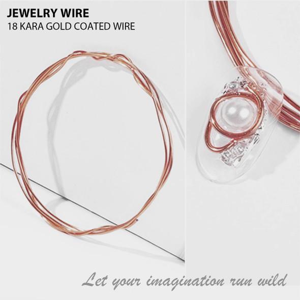 "JEWELRY WIRE 18 Kara Gold 0.02"" Diameter x 40"" Length"