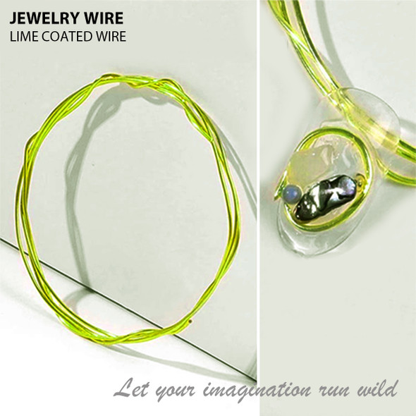 "JEWELRY WIRE Lime 0.02"" Diameter x 40"" Length"