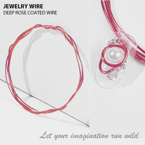 "JEWELRY WIRE Deep Rose 0.02"" Diameter x 40"" Length"