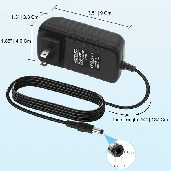 POWER ADAPTER 100-240VAC to 12VDC 2A.