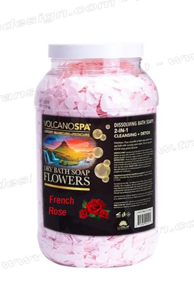 LA PALM Dry Bath Soap Flowers French Rose