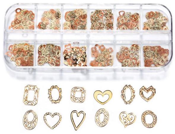 CHARM Heart & Frame Gold & Rose Gold 12 Design/Case #RS-013