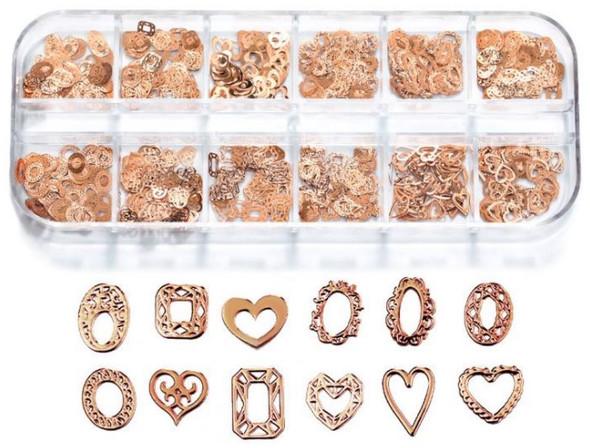 CHARM Heart & Frame Rose Gold 12 Design/Case #RS-014
