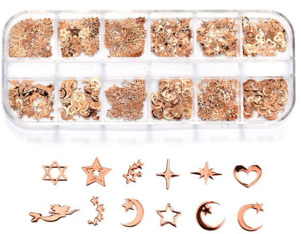CHARM Assorted, Rose Gold 12 Design/Case #RS-022