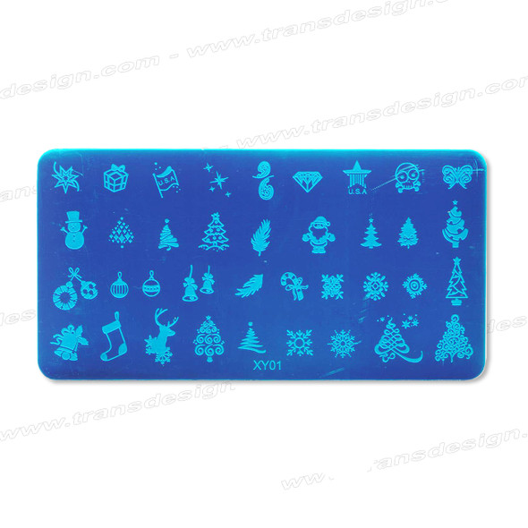 STAMPING PLATE SS Christmas XY01