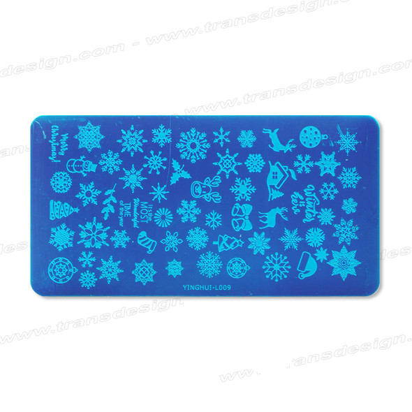 STAMPING PLATE SS Snow Flake YH-L009