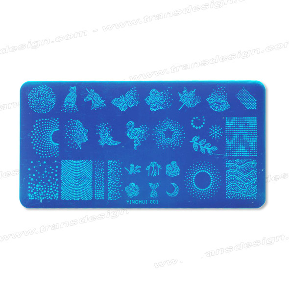 STAMPING PLATE SS Dotting Design YH-001