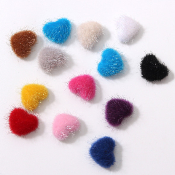 POM POM Heart with Magnetic Brown 2/Pk.