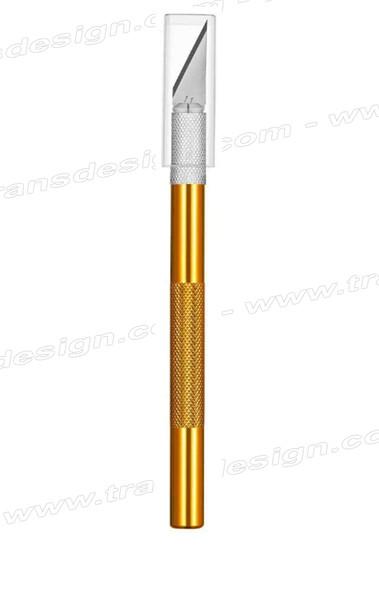 EXACTO Aluminum Gold Handle Knife