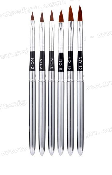 3-D Detail Nail Art Brush #2, 4, 6, 8, 10 & 12  6 Brush/Pack
