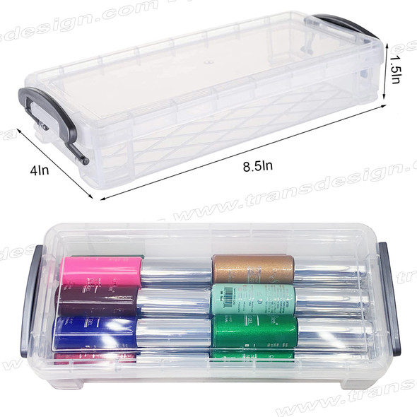 """NAIL ART Stackable Soft Case 8.5 x 4 x 1.5"""" 
