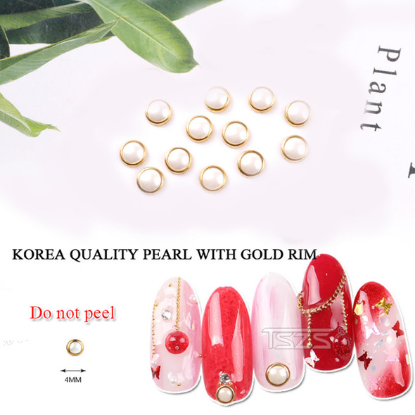 """3-D PEARL With Gold Ring 0.15"""" 
