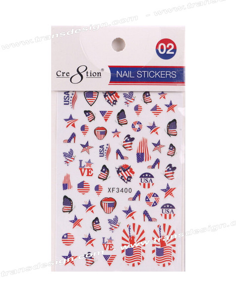 CRE8TION Nail Sticker American Flag #02