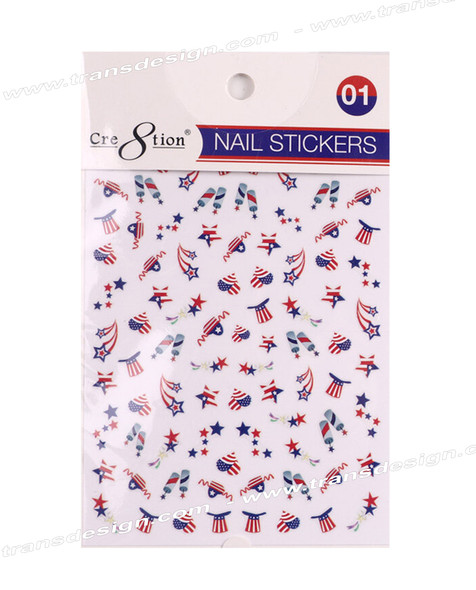CRE8TION Nail Sticker American Flag #01