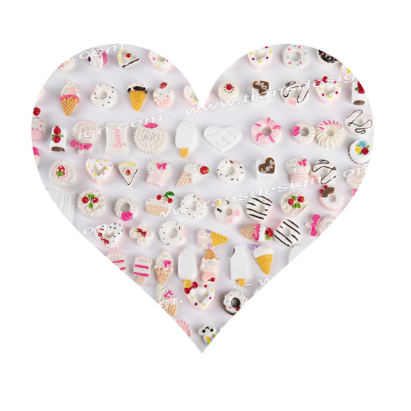 3-D DESIGN Assorted Candy White 30/Pack XF-0312-08
