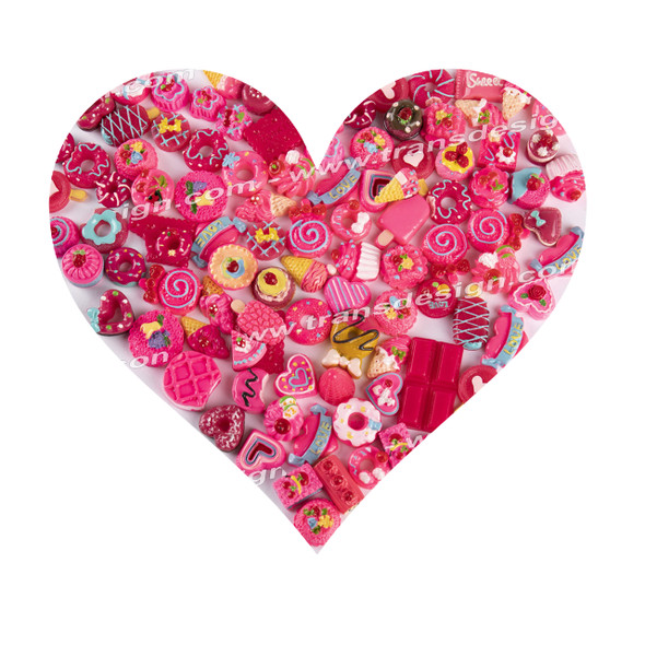 3-D DESIGN Assorted Candy Pink 30/Pack XF-0312-02