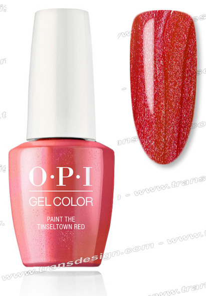 OPI GelColor - Paint the Tinseltown Red  0.5oz.