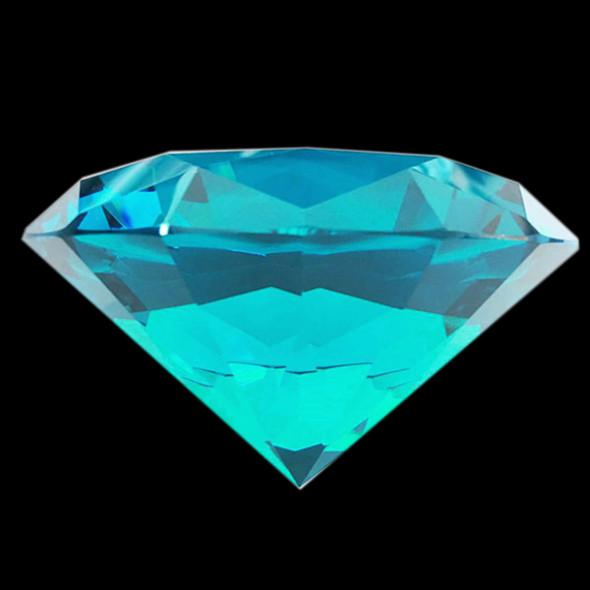 "BIG CRYSTAL Rhinestone 3.1"" Diameter Blue Zircon"