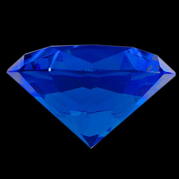 "BIG CRYSTAL Rhinestone 3.1"" Diameter Sapphire"