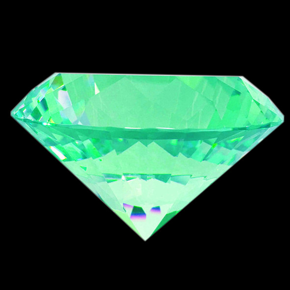 "BIG CRYSTAL Rhinestone 3.1"" Diameter Emerald"