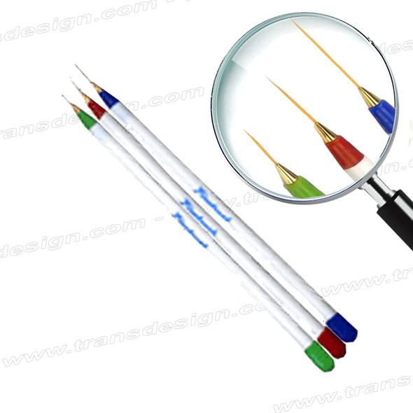 DL PRO- Nail Art Striping Brush Set 3pc.