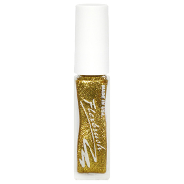 Flexbrush Lacquer Base-  Gold Glitter 1/3oz.