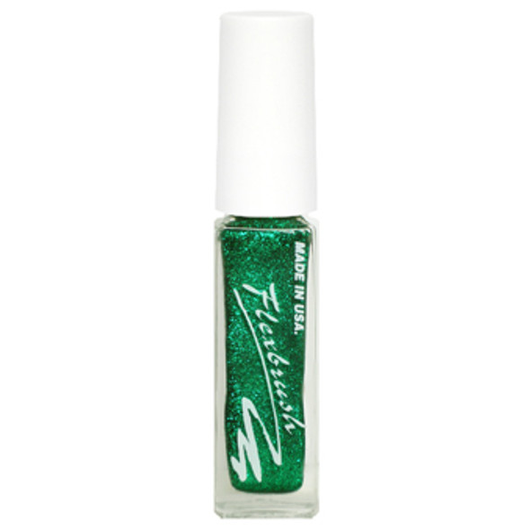 Flexbrush Lacquer Base - Green Glitter 1/3oz.