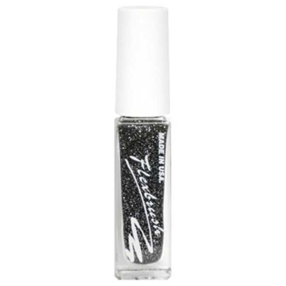 Flexbrush Lacquer Base - Black Glitter 1/3oz.