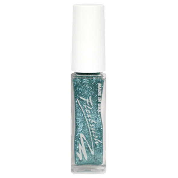 Flexbrush Lacquer Base - Ice Blue Glitter 1/3oz.