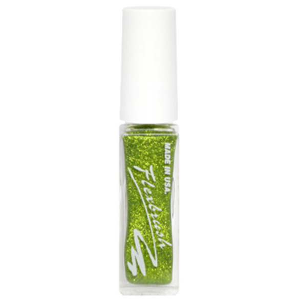 Flexbrush Lacquer Base - Lime Treuse Glitter 1/3oz.