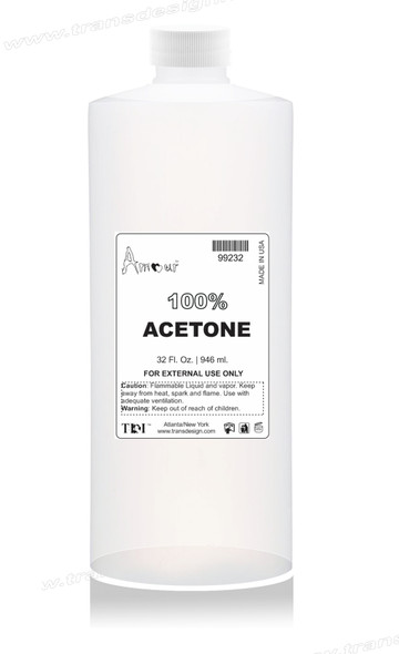 AMOUR 100% Pure Acetone Polish Remover 32oz.
