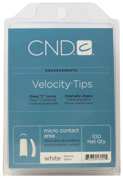 CND - Velocity White Tips 100/Pack *