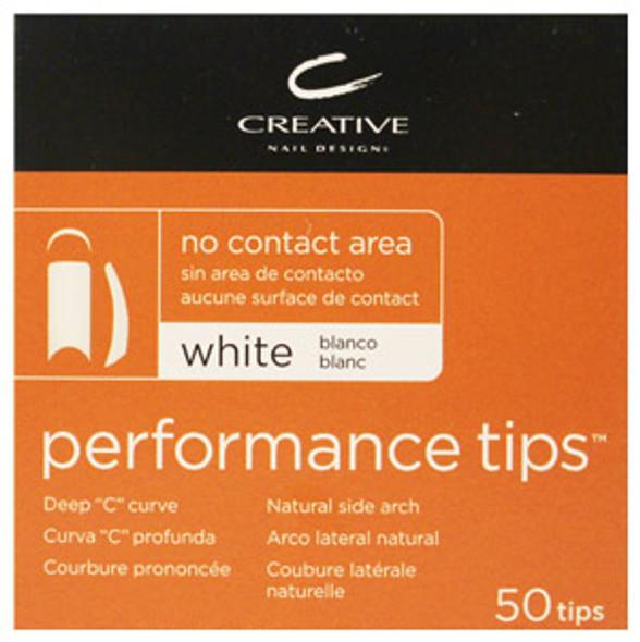 CND - Performance White Tips 50/Pack