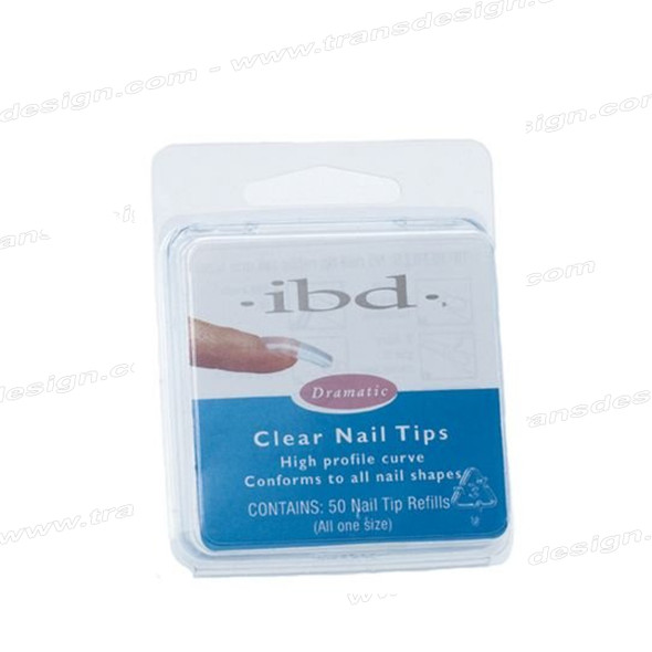 IBD - Clear Nail Tips 50/Pack