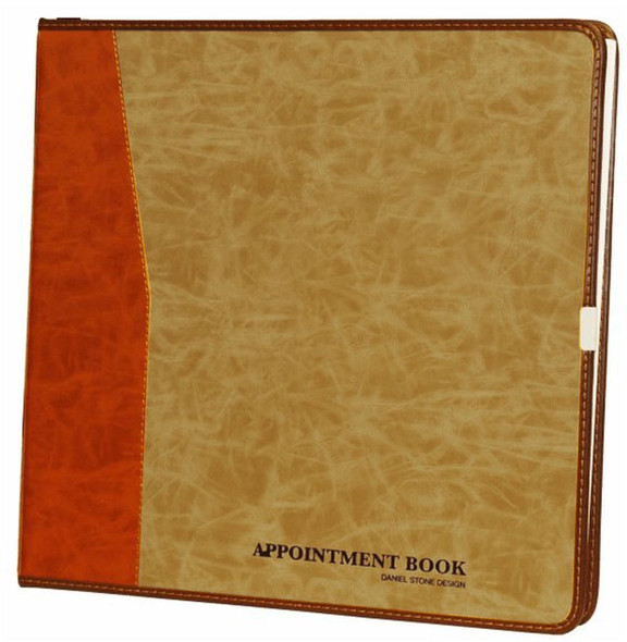 Appointment Book - 6 Columns Tan Color Cover