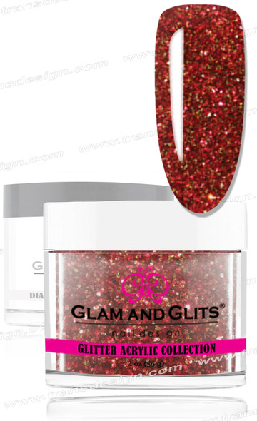 GLAM AND GLITS Glitter Collection - Holiday Red  2oz.