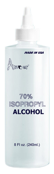 "EMPTY Imprinted Bottle ""ALCOHOL"" 8oz."