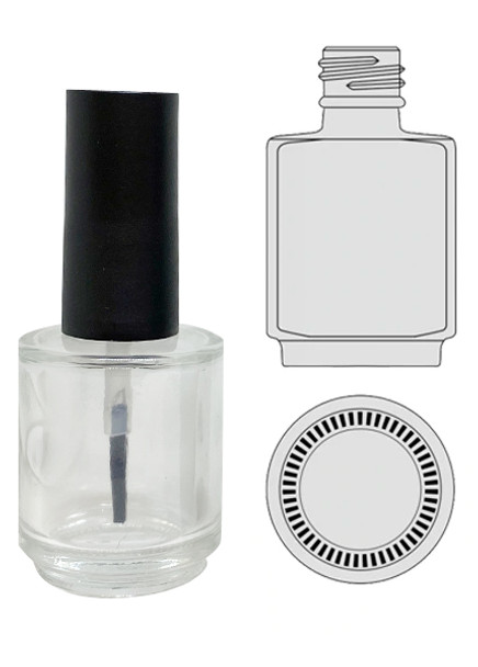 Empty Glass Bottle - Clear With Cap 0.5oz 90/Tray