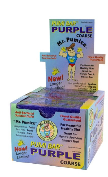 Mr. Pumice - Purple Pumi Bar  Coarse 12 pcs/pack
