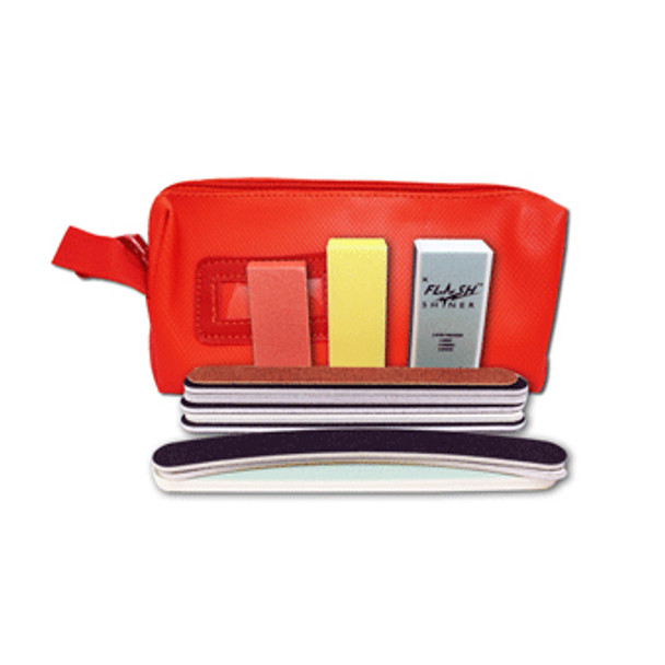 FILE & BUFFER 13 Sampler /Zip Purse Red