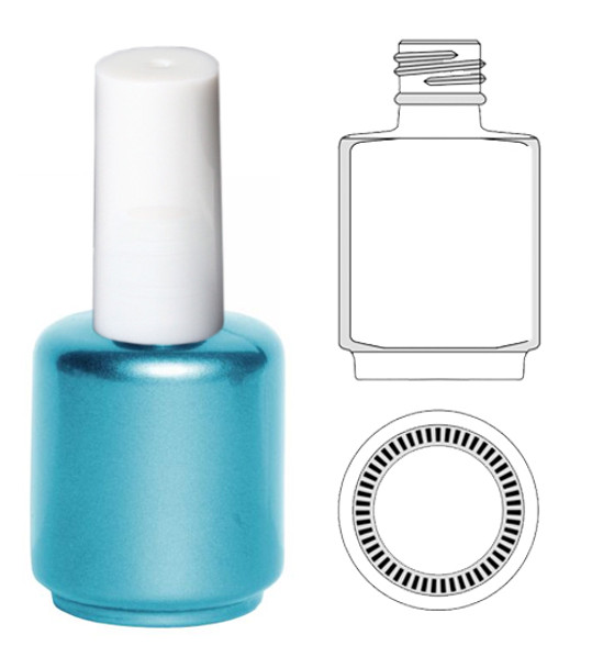 EMPTY BOTTLES-Blue-Pearl Painted Gel Polish 0.5oz