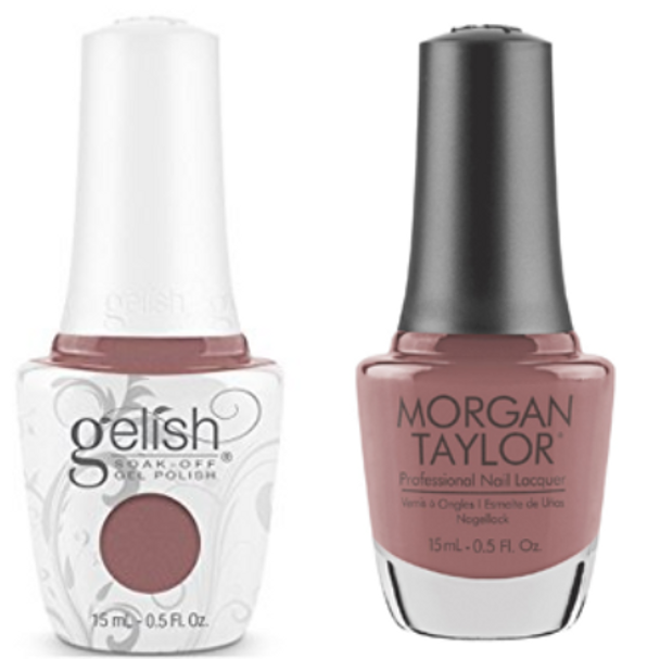 GELISH/MORGAN TAYLOR Two Of A Kind - Mauve Your Feet 0.5oz. 2/Pack*